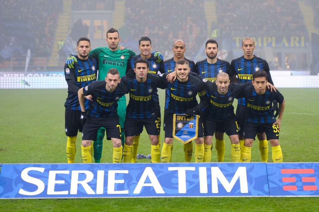 HEEPPC Milan, Italy. 2016, 11 december: The starting eleven of FC Internazionale during the Serie A football match between FC Internazionale and Genoa CFC.