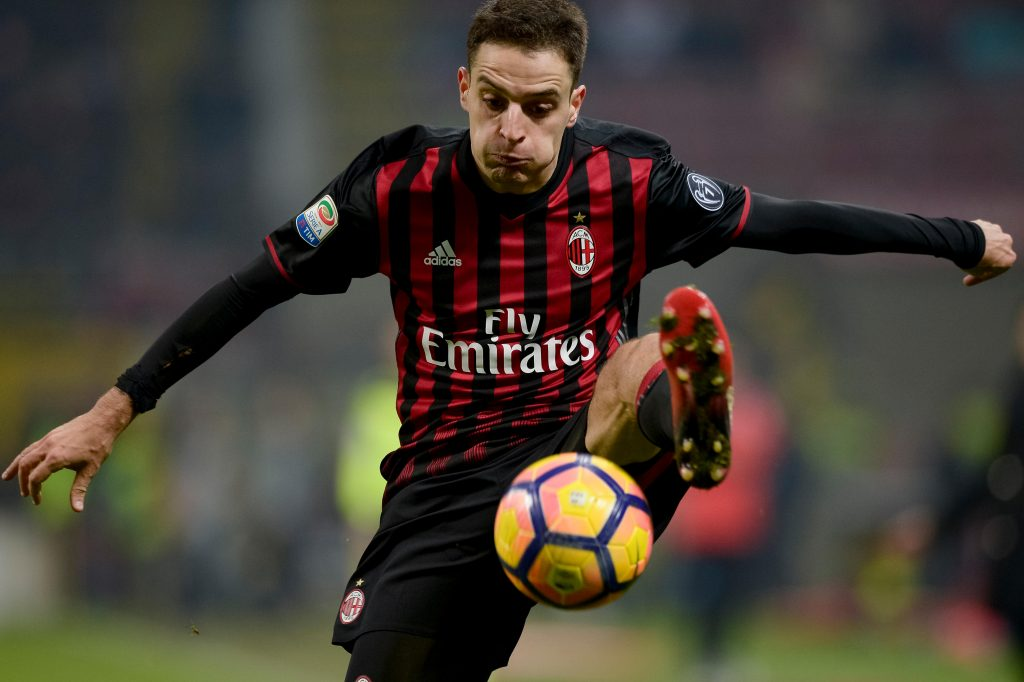 HJ0MYG Milan, Italy. 21st Jan, 2017. Giacomo Bonaventura of AC Milan in action during the Serie A football match between AC Milan and SSC Napoli in Milan. Credit: Nicolo Campo/Alamy Live News