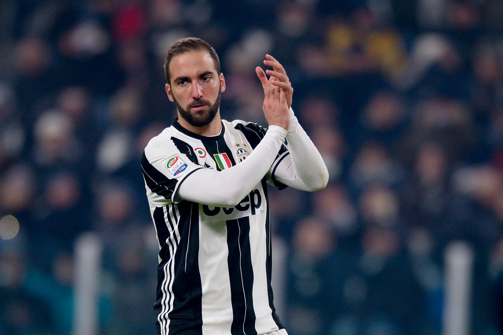 HEEPCH Turin, Italy. 2016, 17 december: Gonzalo Higuain of Juventus FC gestures during the Serie A football match between Juventus FC and AS Roma.