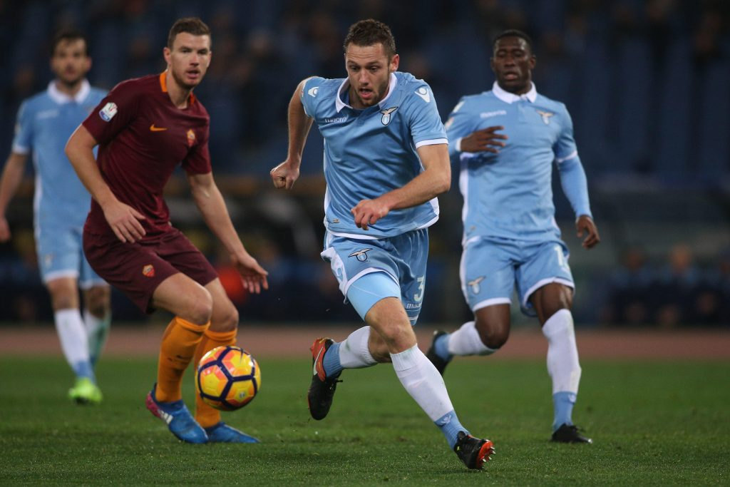 HRGB6N Stadio Olimpico, Rome, Italy. 1st Mar, 2017. Italy TIM CUP Football. Lazio vs Roma. De Vrij in action during the match. Credit: marco iacobucci/Alamy Live News