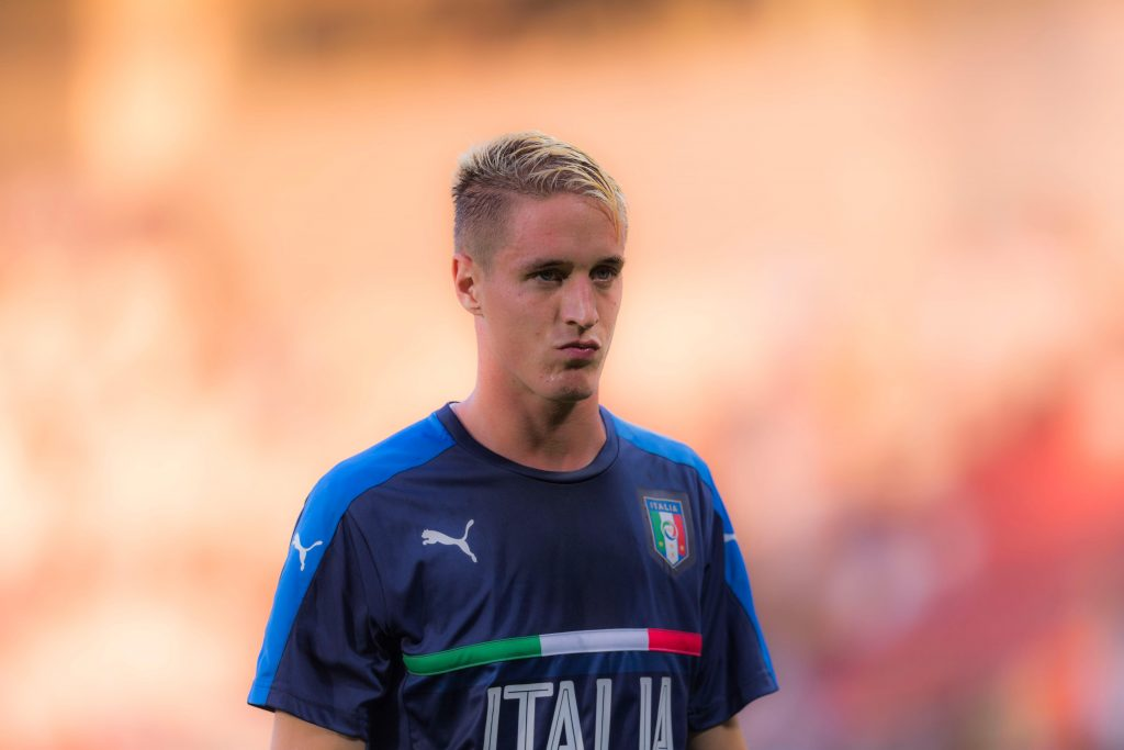 JEJHMK Krakow, Poland. 24th June, 2017. Andrea Conti (ITA) Football/Soccer : Andrea Conti of Italy warms up before the UEFA Under-21 Championship Poland 2017 Group C match between Italy 1-0 Germany at Marshal Jozef Pilsudski Stadium in Krakow, Poland . Credit: Maurizio Borsari/AFLO/Alamy Live News
