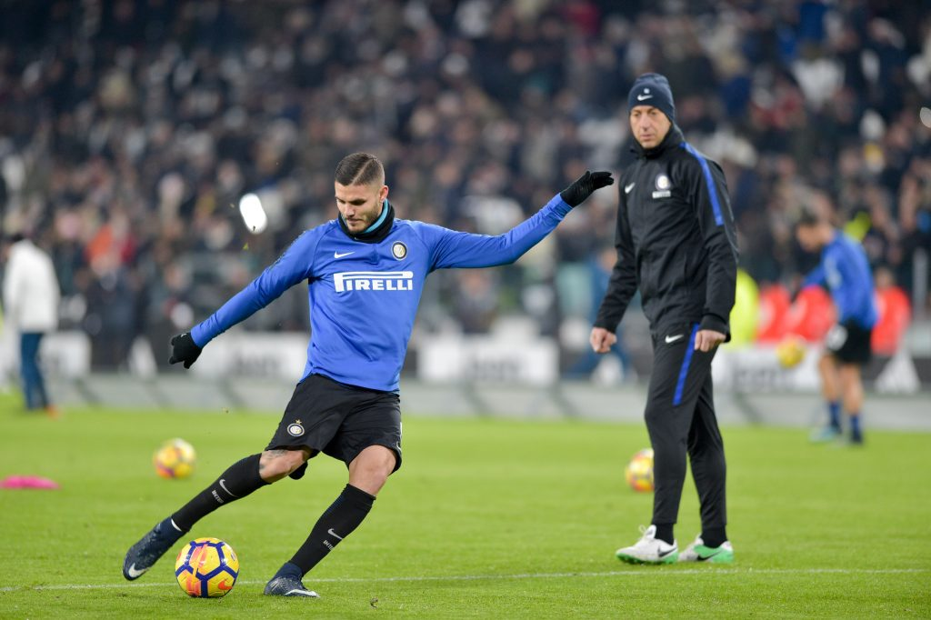 KN1RE8 Turin, Italy . 09th Dec, 2017. Mauro Icardi (FC Internazionale),during the Serie A football match between Juventus FC and FC Internazionale Milano at Allianz Stadium on 09 december, 2017 in Turin, Italy. Credit: Antonio Polia/Alamy Live News