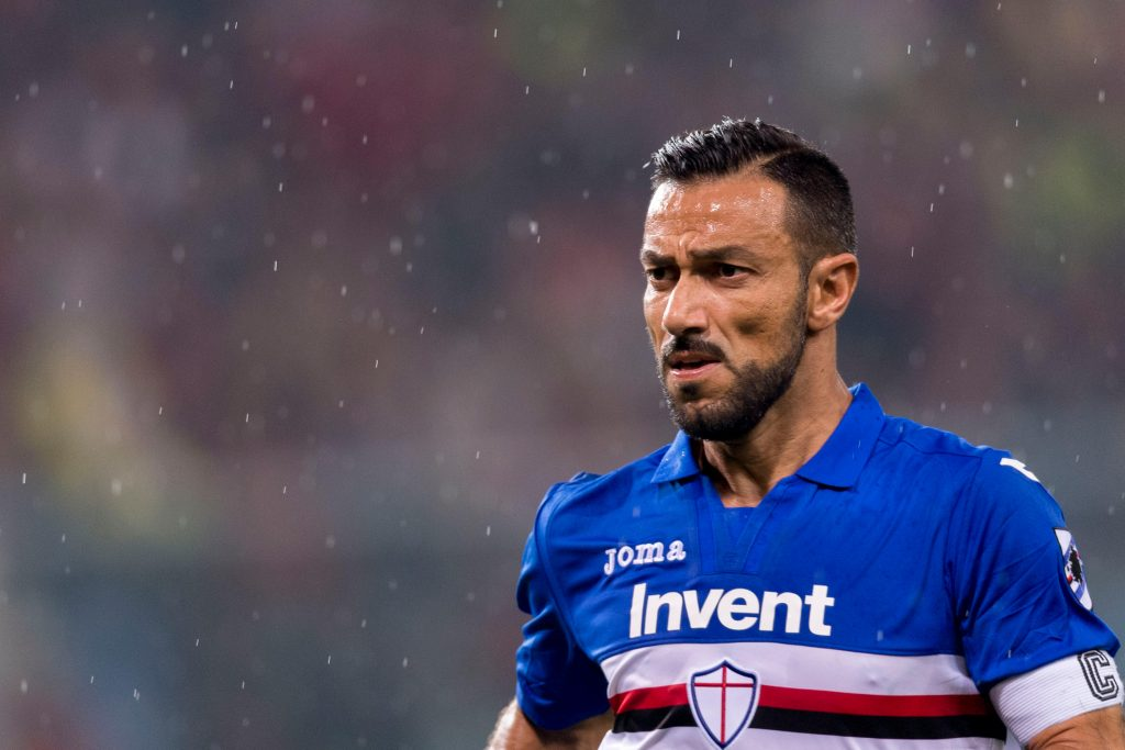 "KGBDNN Fabio Quagliarella (Sampdoria), NOVEMBER 4, 2017 - Football / Soccer : Italian ""Serie A"" match between Genoa CFC 0-2 UC Sampdoria at Stadio Luigi Ferraris in Genoa, Italy. (Photo by Maurizio Borsari/AFLO)"