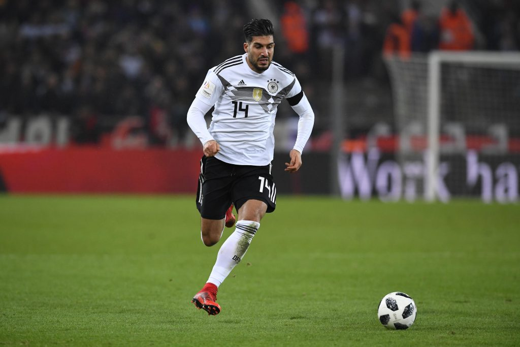 KH7XT8 Emre Can (Germany).  GES/ Fussball/ Freundschaftsspiel: Germany - Frankreich, 14.11.2017  Football / Soccer: Friendly match: Germany vs France, Cologne, November 14, 2017 |usage worldwide
