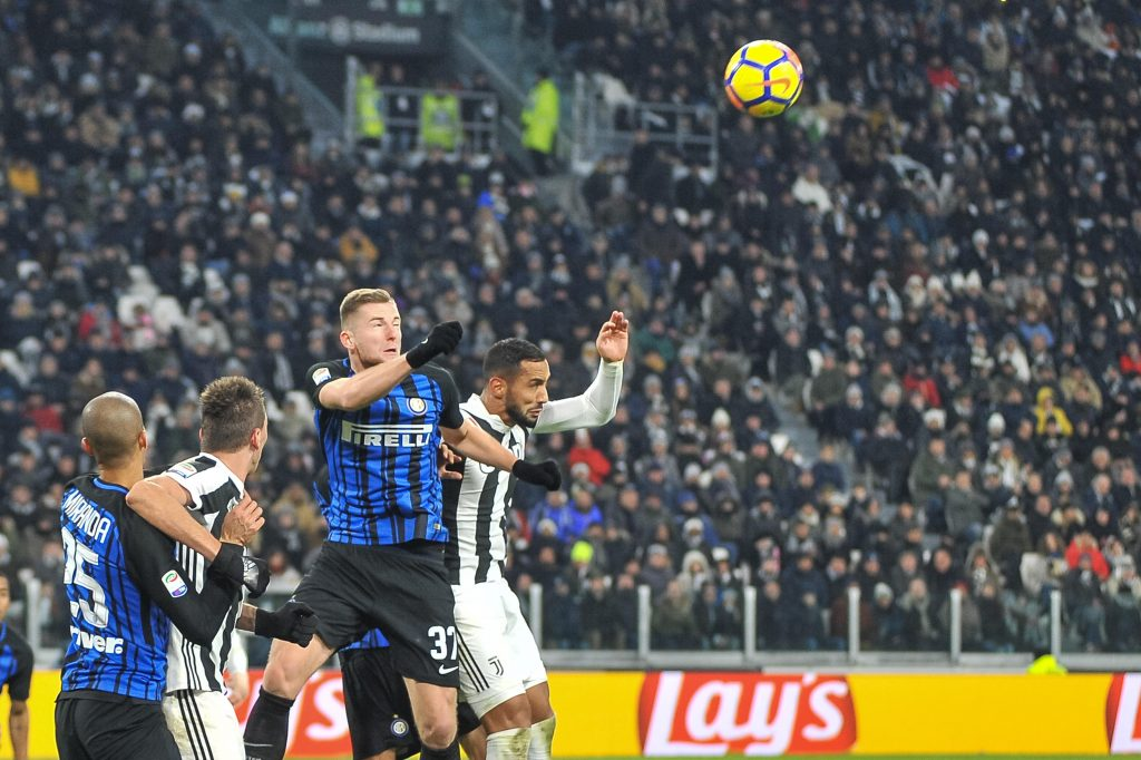 KN1PJ9 Milan Skriniar (FC Internazionale) during the Serie A football match between Juventus FC and FC Internazionale Milano at Allianz Stadium on 9 Dicember, 2017 in Turin, Italy. Credit: FABIO PETROSINO/Alamy Live News
