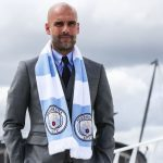 MANCHESTER, ENGLAND - JULY 08: Manchester City's manager Pep Guardiola poses for photographs outside the Etihad Stadium on July 8, 2016 in Manchester, England. (Photo by Barrington Coombs/Getty Images)